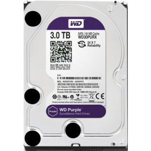 HDD 3000 GB (3 TB) SATA-III Purple (WD30PURX)